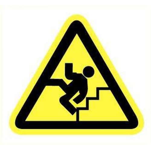 Pictogram Gevaarlijke trap- Sticker
