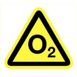 Pictogram Zuurstof/O2 Sticker