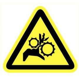 Pictogram - Gevaar voor handen, tandwielen- Sticker