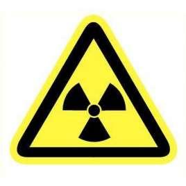 Pictogram radioactieve stoffen- Sticker
