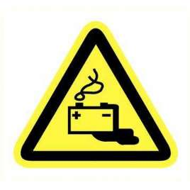 Pictogram gevaar batterij lekkage- Sticker