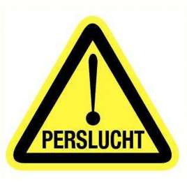 Pictogram perslucht- Sticker