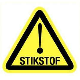 Pictogram stikstof- Sticker