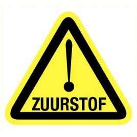Pictogram zuurstof- Sticker