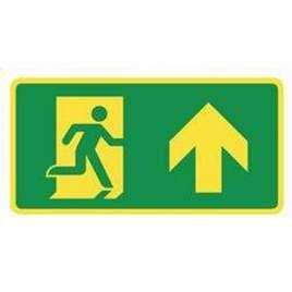 Pictogram uitgang omhoog/rechtdoor- Bord