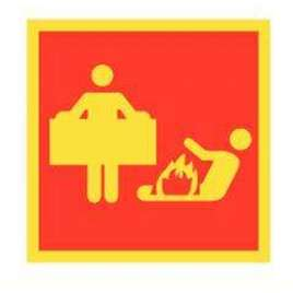Pictogram Branddeken - Bord- Fotoluminescentie