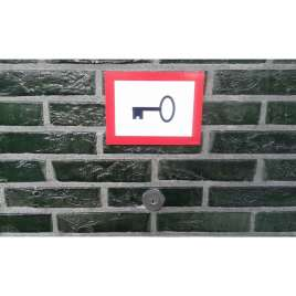 Pictogram Noodsleutel- Sticker