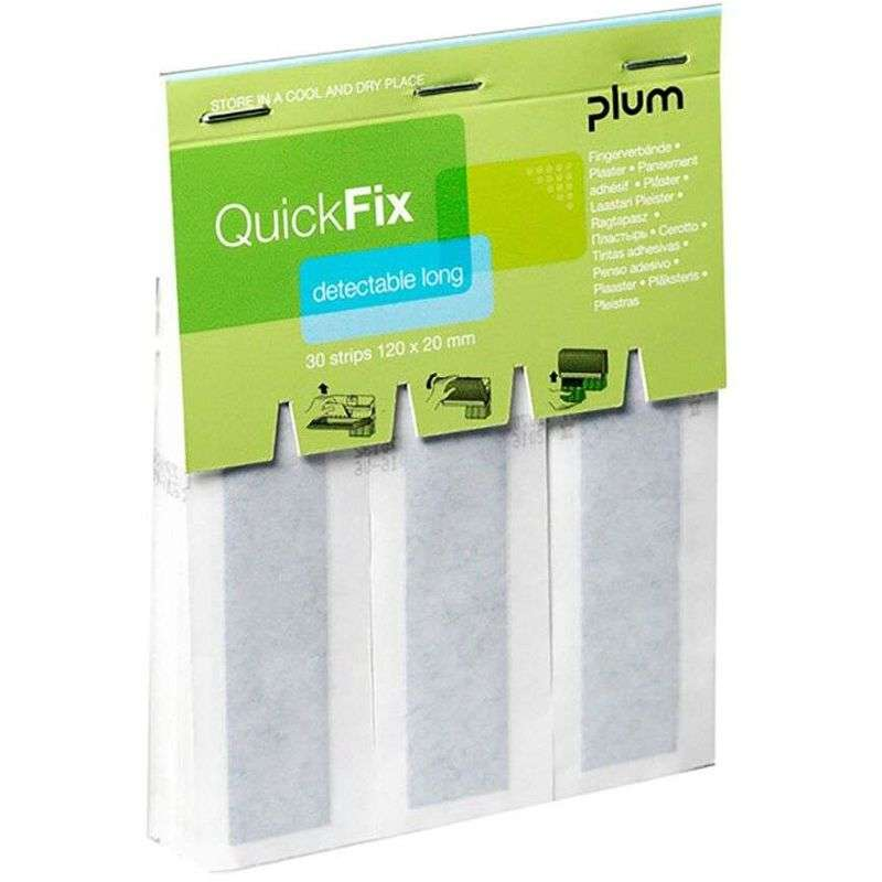 QuickFix Navulling Detectable Lange pleisters 12 x 2 cm. (30 stuks)