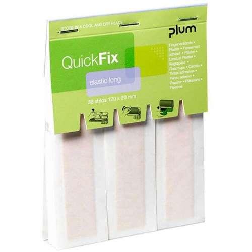 QuickFix Navulling Elastische lange pleisters 12 x 2 cm.