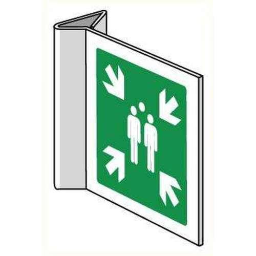 Bord Verzamelplaats - Haaks bord voor binnen 40 x 40 cm.