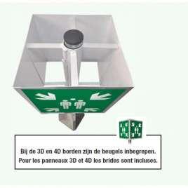 Verzamelplaats - aluminium bord 3D met verkeerspaal