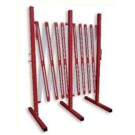 Harmonicahek tot 400 cm 100 cm hoog- Rood/wit