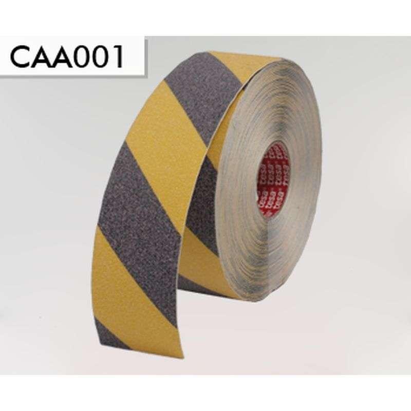 Anti-slip profiel - Zwart / geel breedte 5 cm