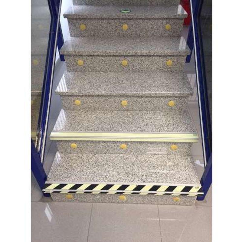 Anti-slip profiel trappen-Zwart/ geel- Nalichtend