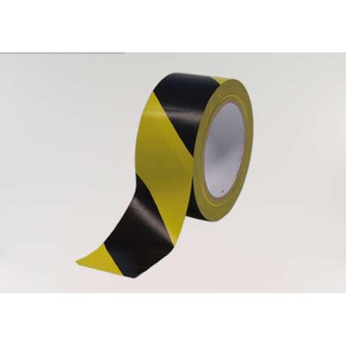 Vloermarkeringstape- Zwart-Geel 5 cm.