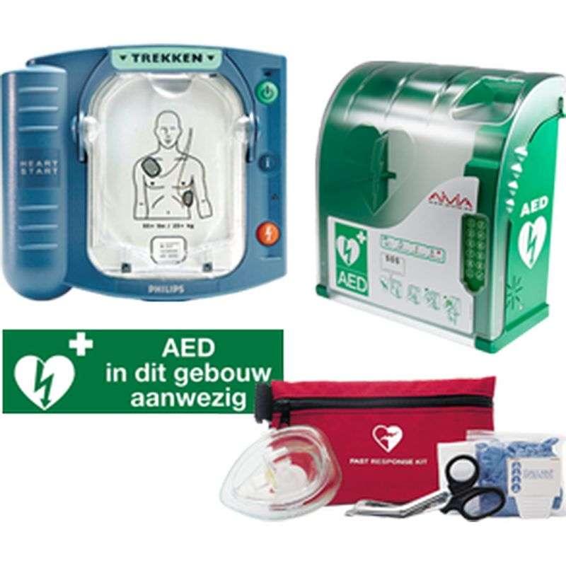 Aed Philips Heartstart Hs 1 Met Groene Binnenkast Bhv Producten