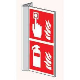 Haaks bord brandblusser/haspel