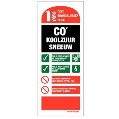 Gebruiksaanwijzing CO2 blusser 8 x 20 cm.