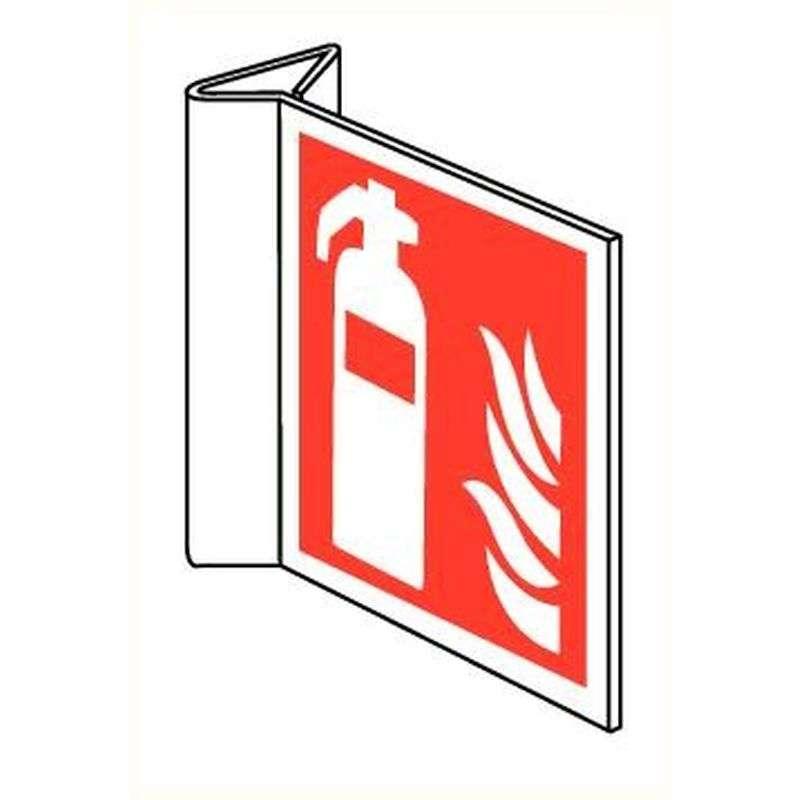 Haaks bord brandblusser PVC