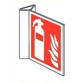 Pictogram brandblusser- Haaks bord