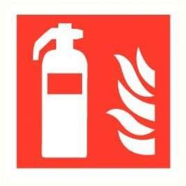 Bord brandblusser zelfklevend ISO 7010