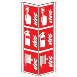 Pictogram Handbrandmelder/Brandblusser/Brandslanghaspel- Panoramisch bord