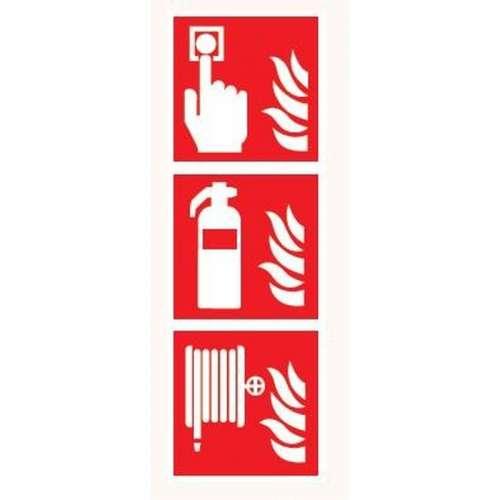 Pictogram Handbrandmelder/Brandblusser/Brandslanghaspel- Bord