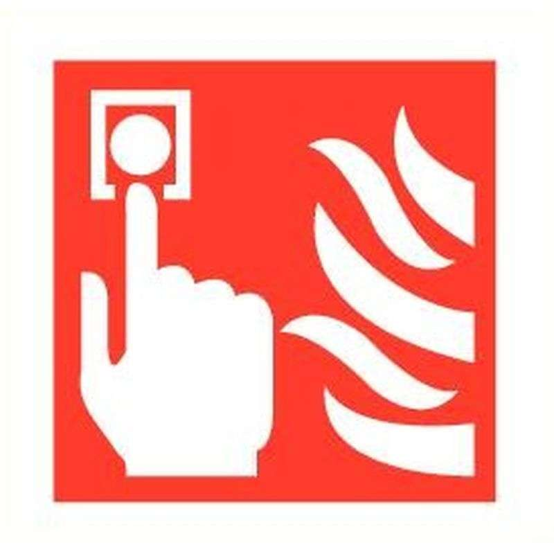 Sticker handbrandmelder zelfklevend