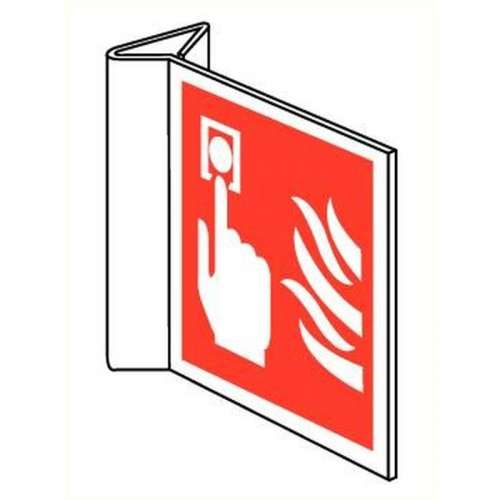 Pictogram Handbrandmelder- Haaks bord