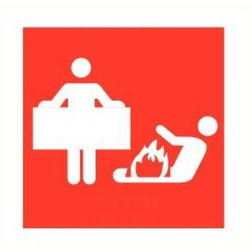 Pictogram Blusdeken- Sticker