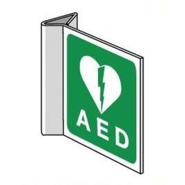 Pictogram AED- Haaks bord