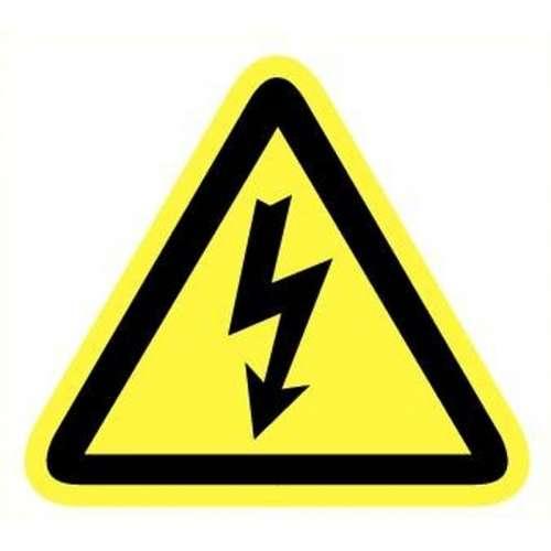 Pictogram electrische spanning- Sticker UV bescherming