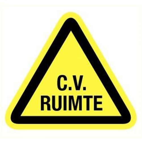 Pictogram CV ruimte- Sticker