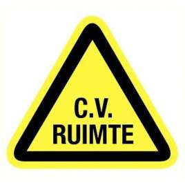 Sticker CV-ruimte