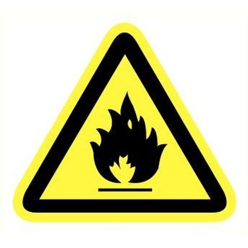Sticker ontvlambare stoffen