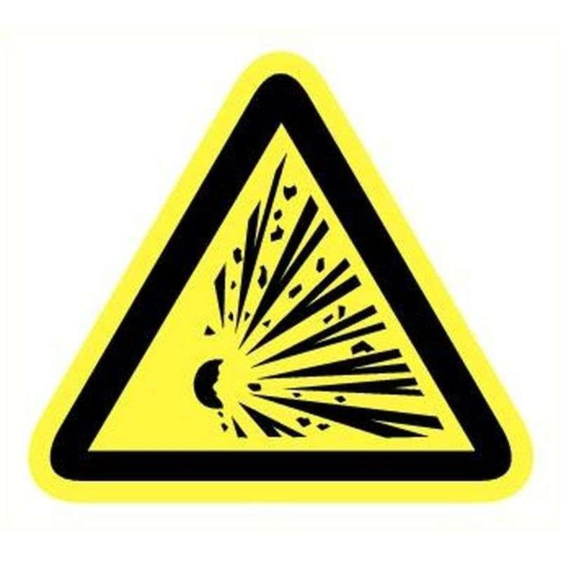 Sticker explosieve stoffen