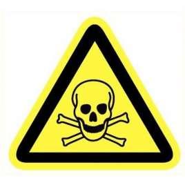 Pictogram giftige stoffen- Sticker