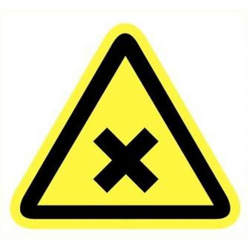 Pictogram schadelijke of irriterende stoffen- Sticker