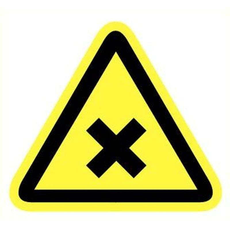 Sticker schadelijk irriterende stoffen