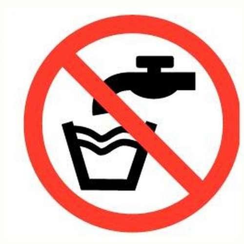 Pictogram geen drinkwater- Sticker