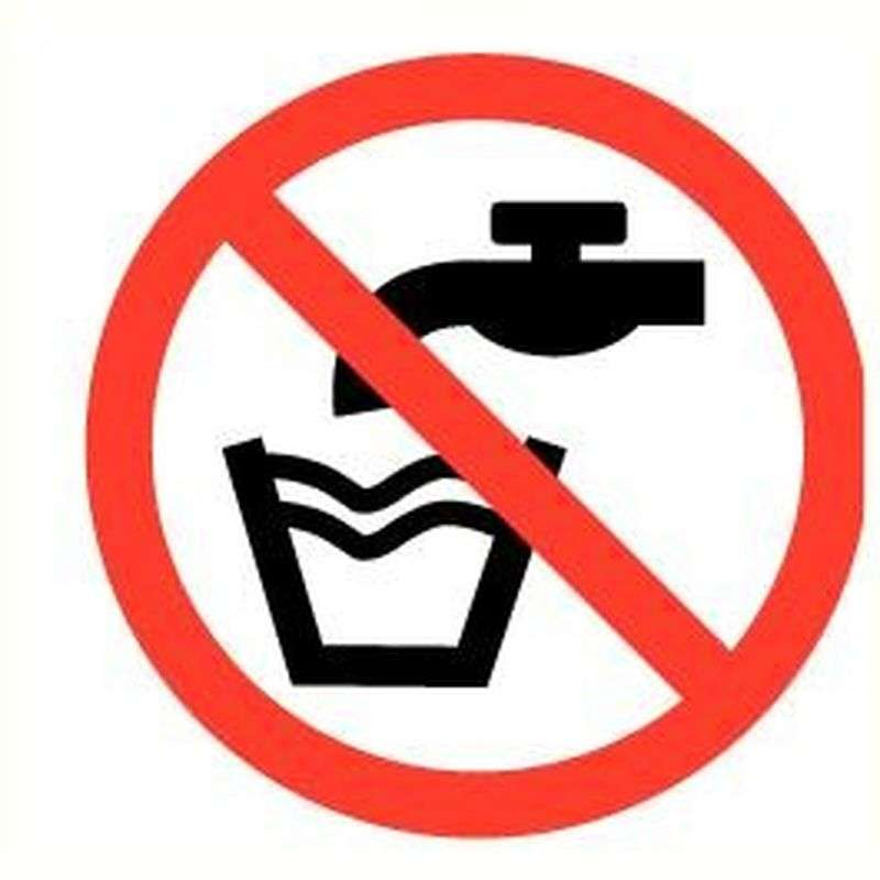 Sticker geen drinkwater