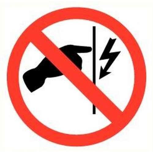 Pictogram niet aanraken electrische spanning- Sticker