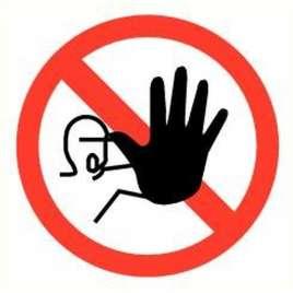 Pictogram toegang verboden- Sticker