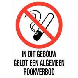 Pictogram algemeen rookverbod in gebouw- Sticker