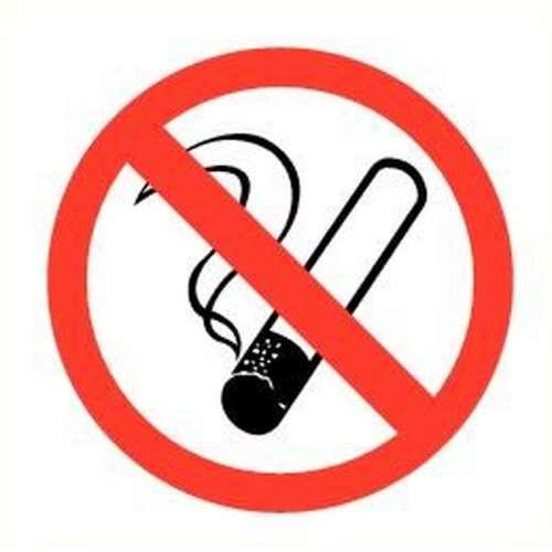 Pictogram roken verboden- Sticker