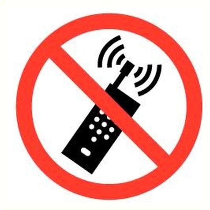 Sticker GSM verboden
