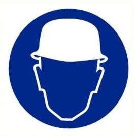 Pictogram veiligheidshelm verplicht- Sticker