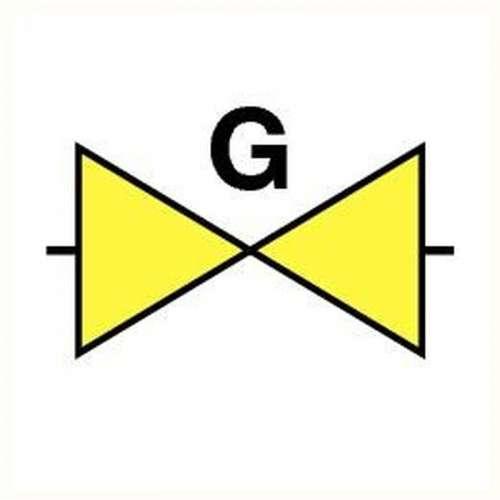 Pictogram gasafsluiter- Sticker
