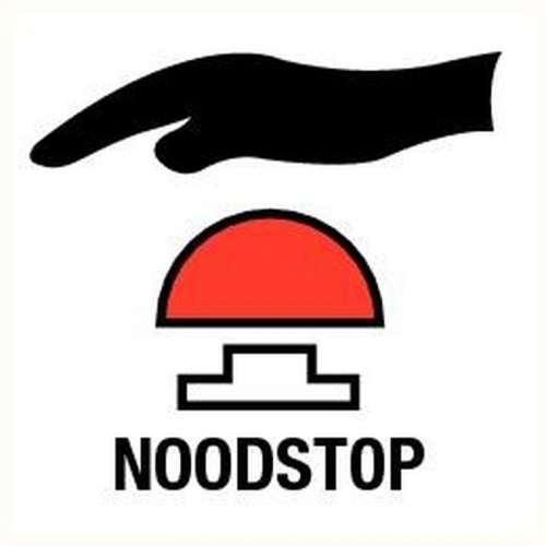 Pictogram noodstop- Sticker