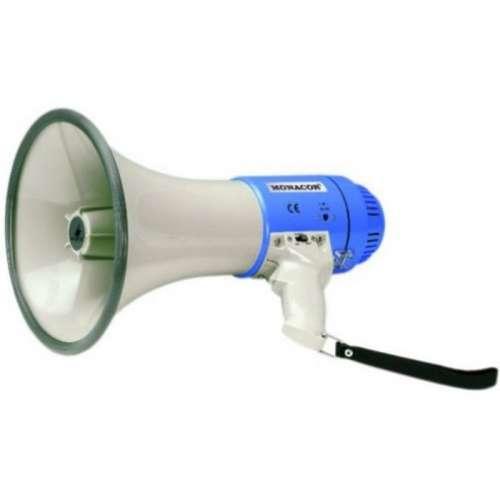 Megafoon met microfoon + sirene